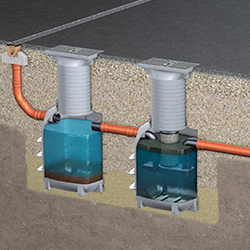 Light liquid separators