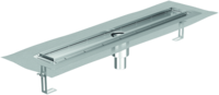 Channel body ACO ShowerDrain E+, Installation height top edge screed: 15 – 140 mm