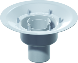 Gully body, DN 70 – DN 100 with fixed flange – uninsulated