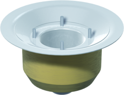 Gully body, DN 50 – DN 100 with fixed flange – insulated