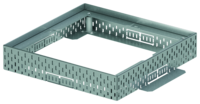 Top sections and gratings for roof gullys made of stainless steel