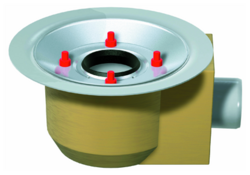 Gully body, DN 50 – DN 70 with fixed flange – gedämmt