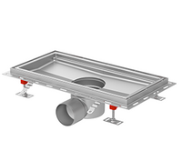 ACO hygienic box channel - L-profile edge