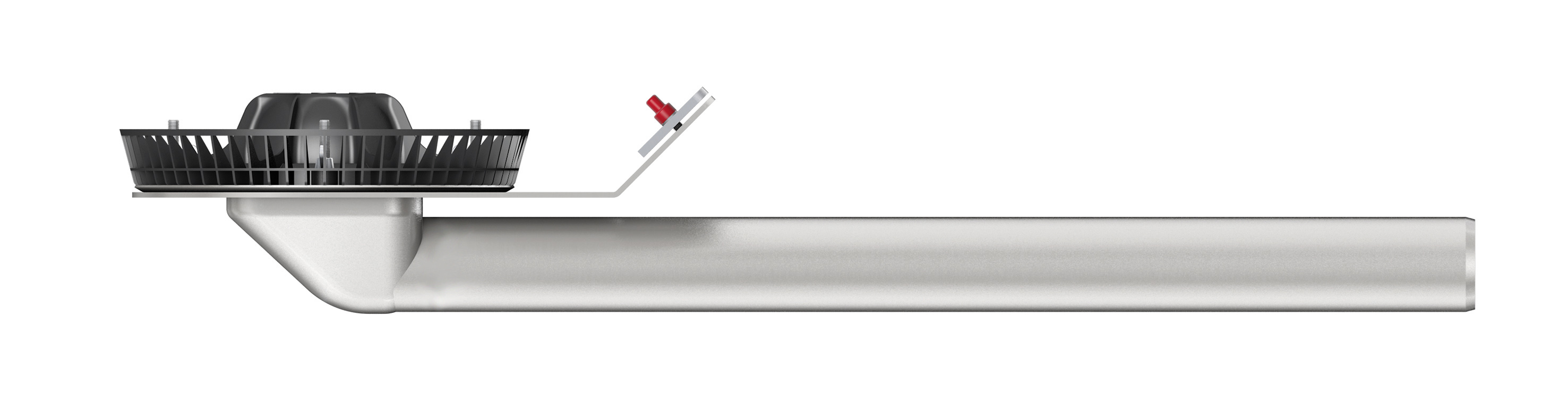 The new ACO Jet parapet drain made of stainless steel