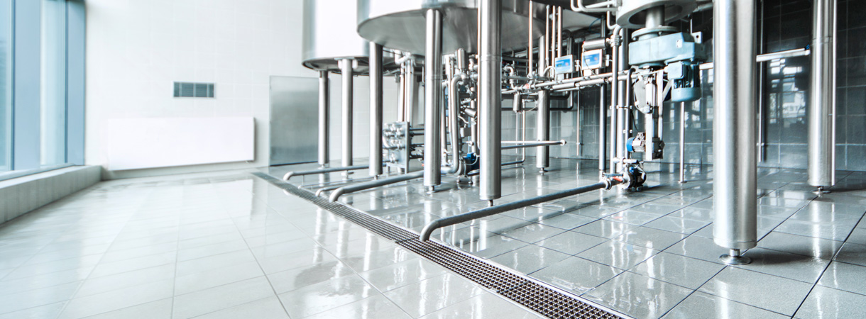 ACO drainage solutions for Food and Beverage industries